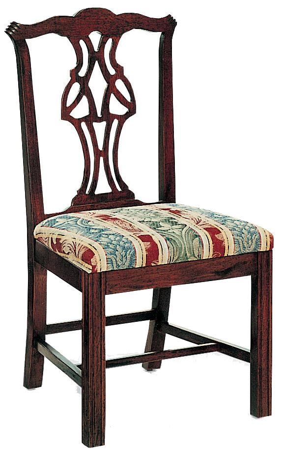 Chairs Pierced Splat Back Chair With Upholstered Cushion By Fairfield