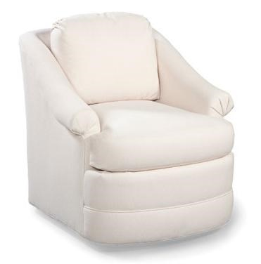 Chairs Swivel Club Chair W/ Rolled Arms By Fairfield