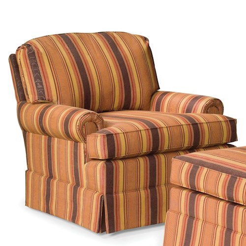 Fairfield Chairs Skirted Swivel Glider Chair