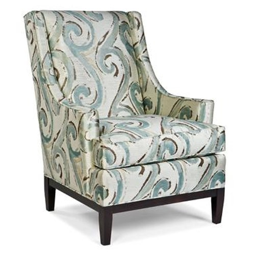 Fairfield Chairs Upholstered Lounge Chair w/ Sloping Arms