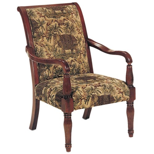 Fairfield Chairs Exposed Wood Chair with Elegant Spindle Arms
