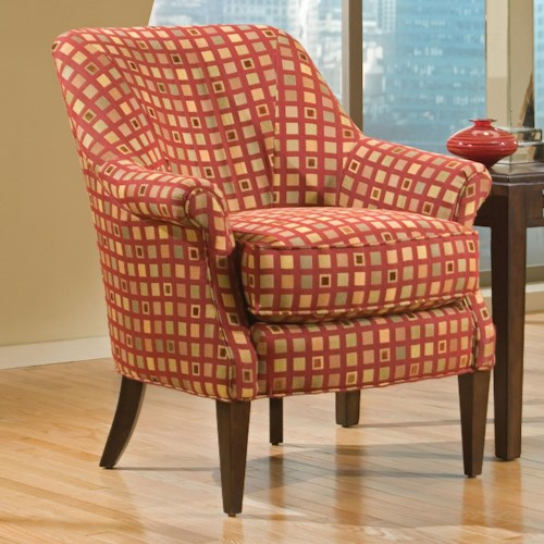 Fairfield Chairs Stationary Chair with Slender Wood Legs