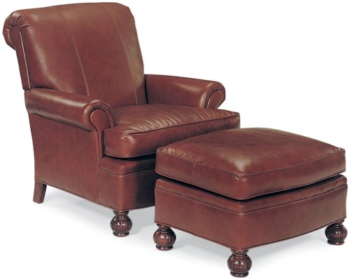 Fairfield Chairs Chair and Ottoman with Decoratively Turned Wood Legs