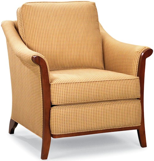 Fairfield Chairs Stationary Chair with Exposed Wood
