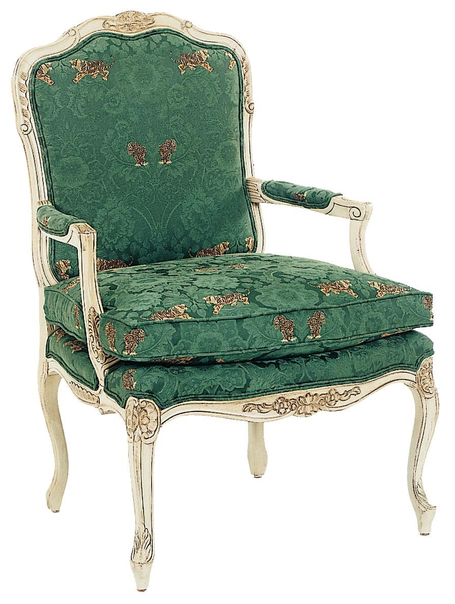 Charmant Fairfield Chairs Intricately Carved Accent Chair With Box Edge Seat Cushion