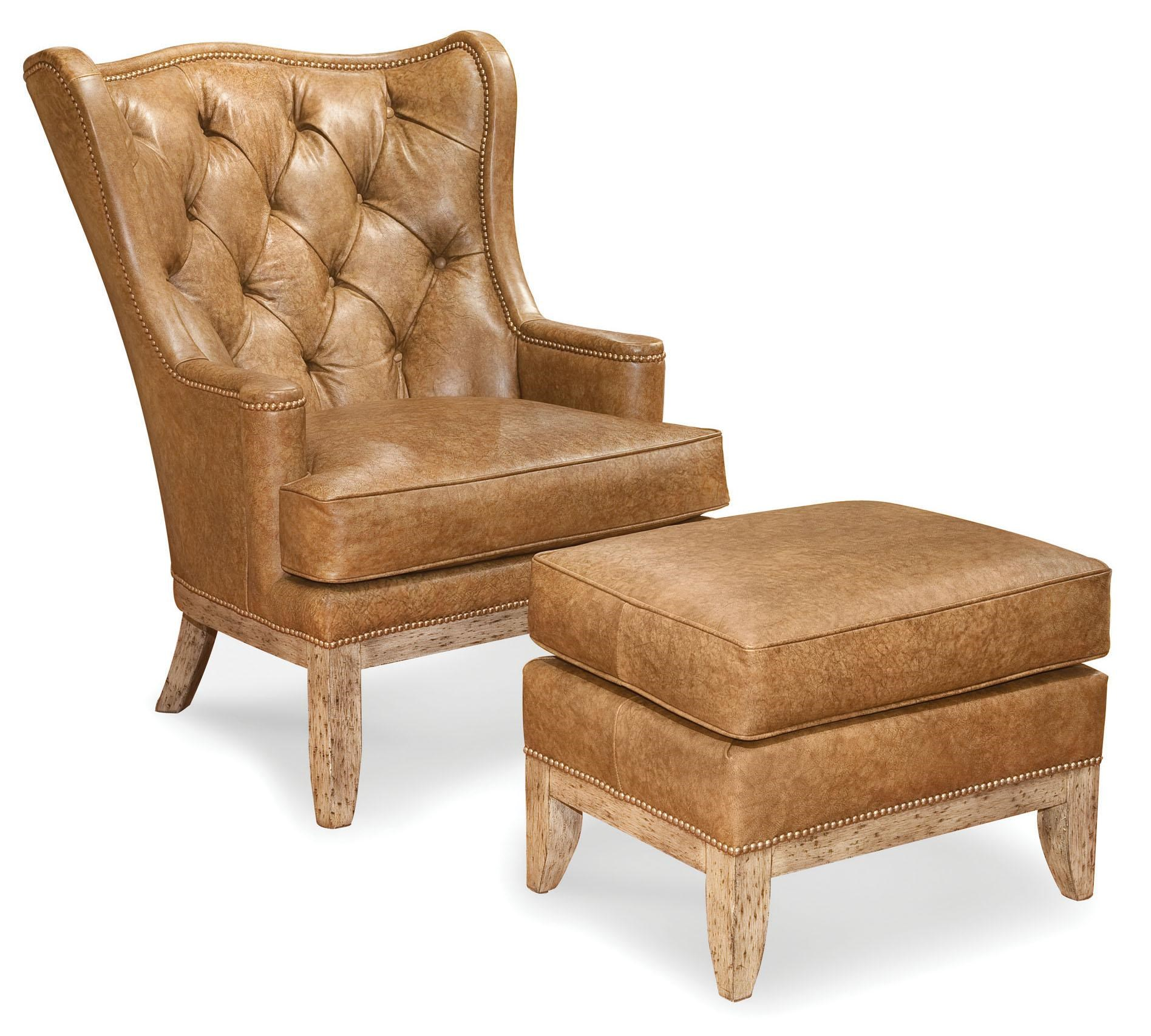 Fairfield Chairs Wing Chair And Ottoman Combination