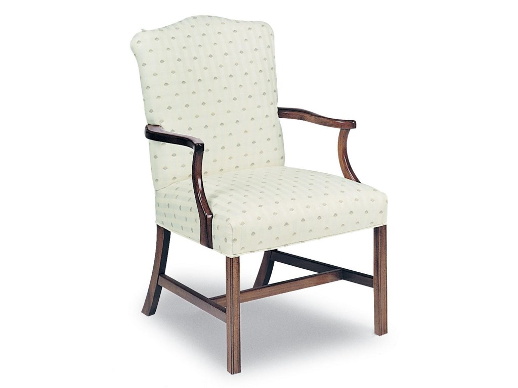 Fairfield ChairsUpholstered Exposed Wood Chair