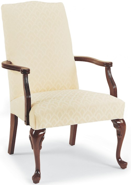 Fairfield Chairs Traditional Exposed Wood Accent Chair