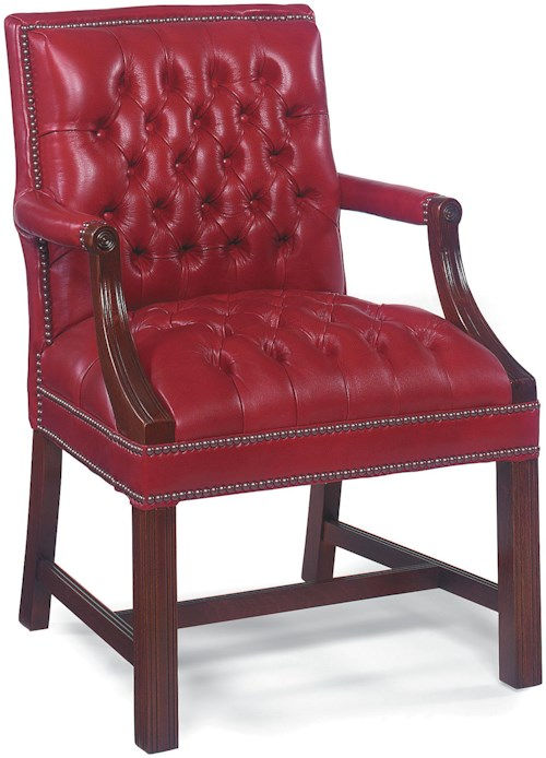 Fairfield Chairs Button Tufted Lounge Chair with Nailhead Trim