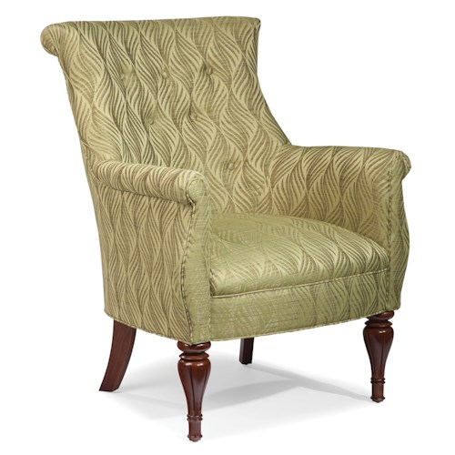 Fairfield Chairs Curvaceous Upholstered Accent Chair