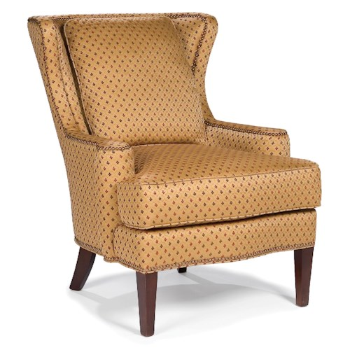 Fairfield Chairs Upholstered Wing Chair with Nailhead Trim