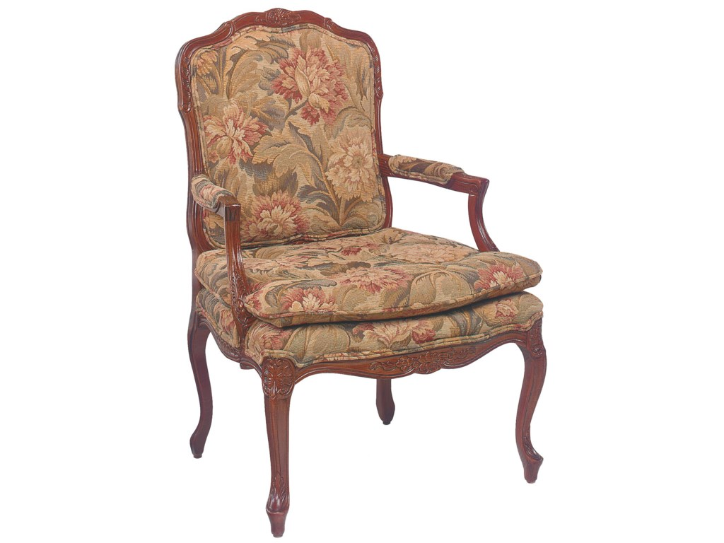 Chairs Intricately Carved Accent Chair With Knife Edge Seat Cushion By Fairfield At Lindy S Furniture Company
