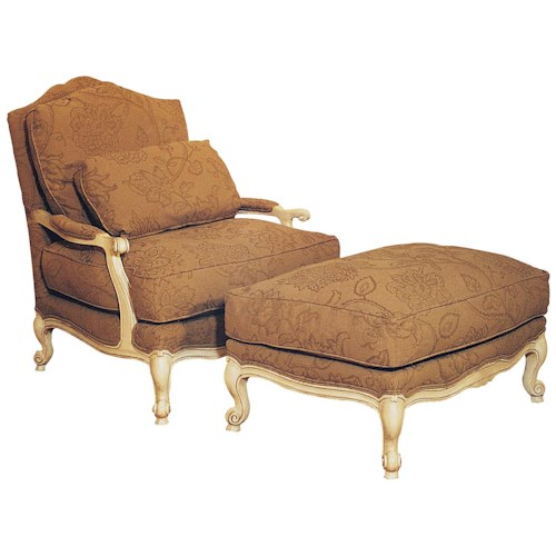 Fairfield Chairs Victorian Lounge Chair & Ottoman Set