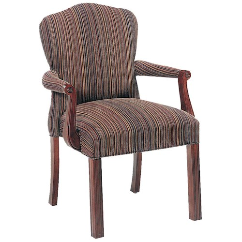 Fairfield Chairs Elegantly Upholstered Stacking Chair