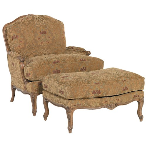 Fairfield Chairs Traditionally Styled Chair & Ottoman Set