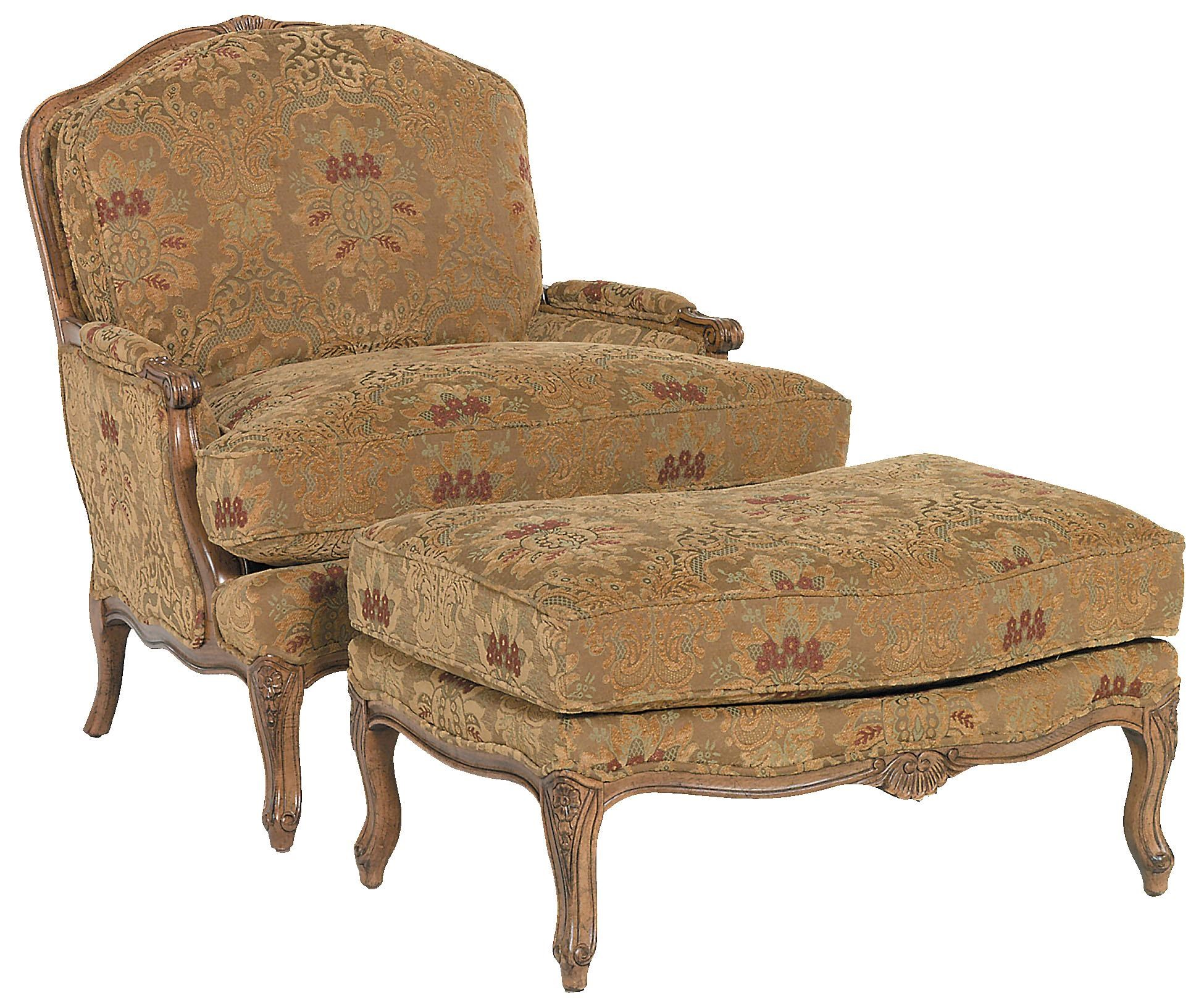 Fairfield Chairs Traditionally Styled Chair U0026 Ottoman Set