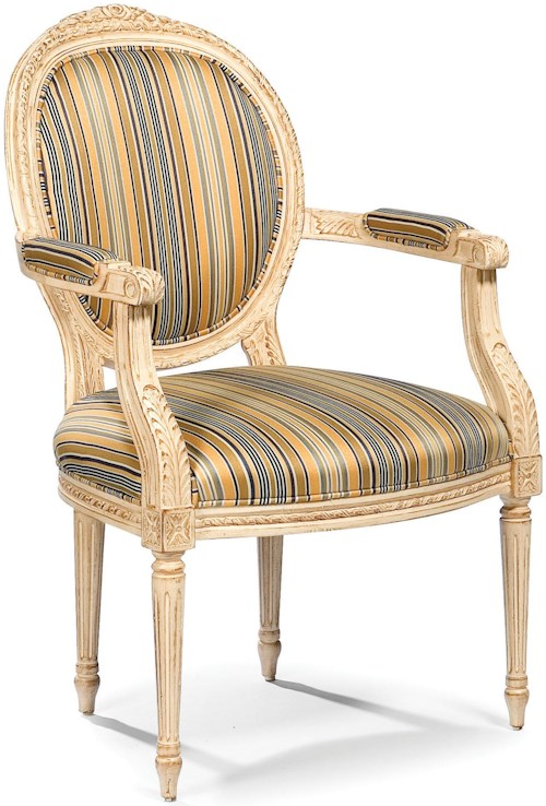 Fairfield Chairs Traditional Exposed Wood Chair with Round Back