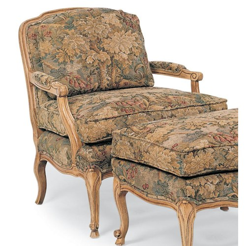 Fairfield Chairs Wide Exposed Wood Chair with Cabriole Legs