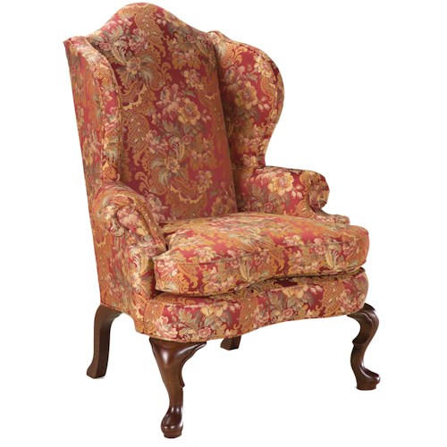 Grove park chairs high back wing chair in the traditional - High back wing chairs for living room ...