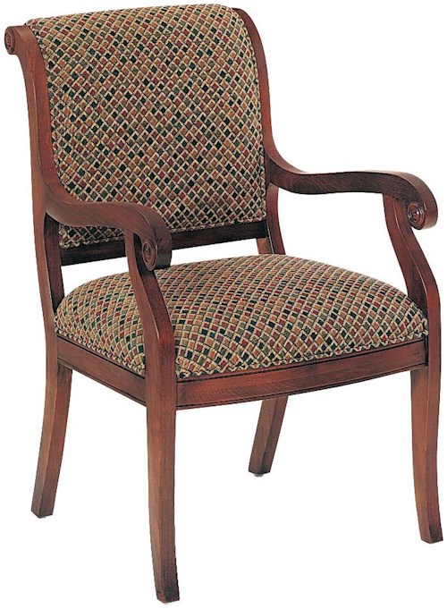 Fairfield Chairs Modest Upholstered Wood Chair
