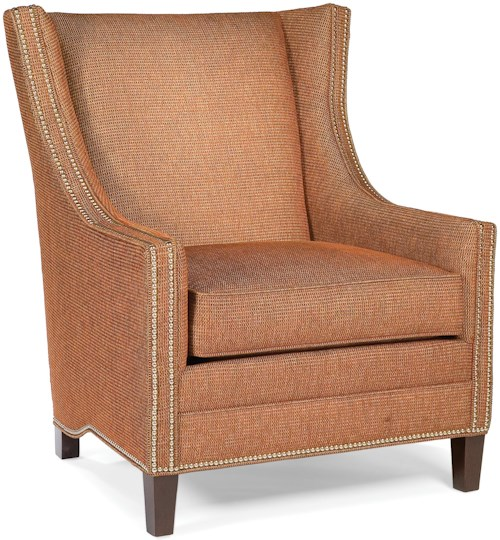 Fairfield Chairs Upholstered Lounge Chair with Nailhead Trim