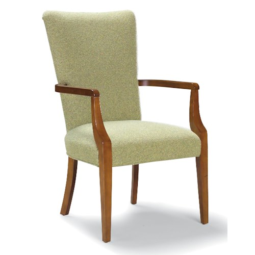 Fairfield Chairs Contemporary Exposed Wood Arm Chair