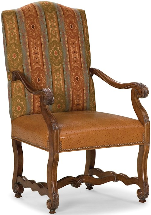 Fairfield Chairs Exposed Wood Accent Chair with Nailhead Trim