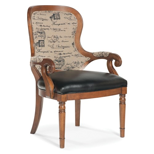 Fairfield Chairs Exposed Wood Upholstered Accent Chair
