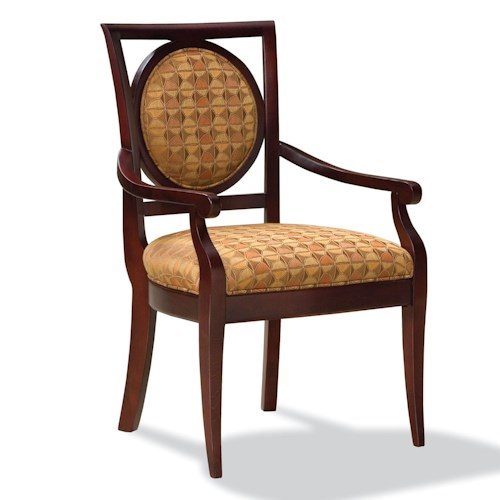 Fairfield Chairs Exposed Wood Upholstered Arm Chair