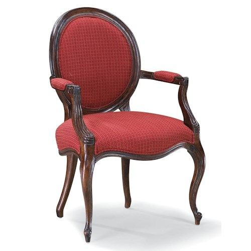 Fairfield Chairs Exposed Wood Arm Chair with Round Back