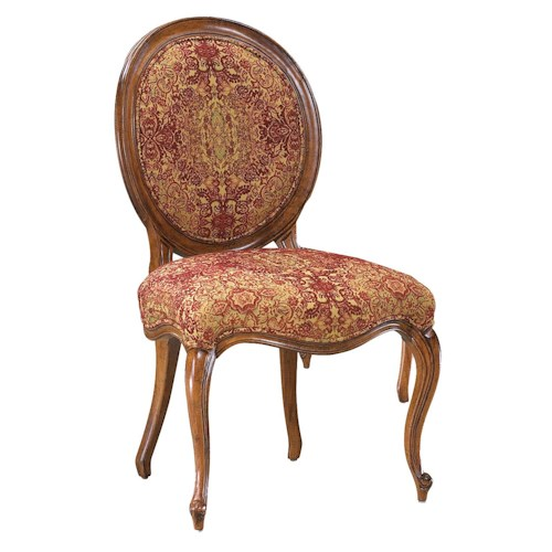 Fairfield Chairs Exposed Wood Side Chair with Round Back