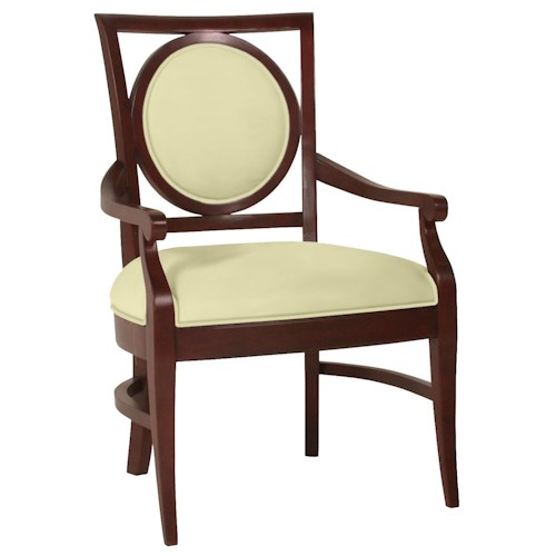 Fairfield Chairs Exposed Wood Circle Back Arm Chair