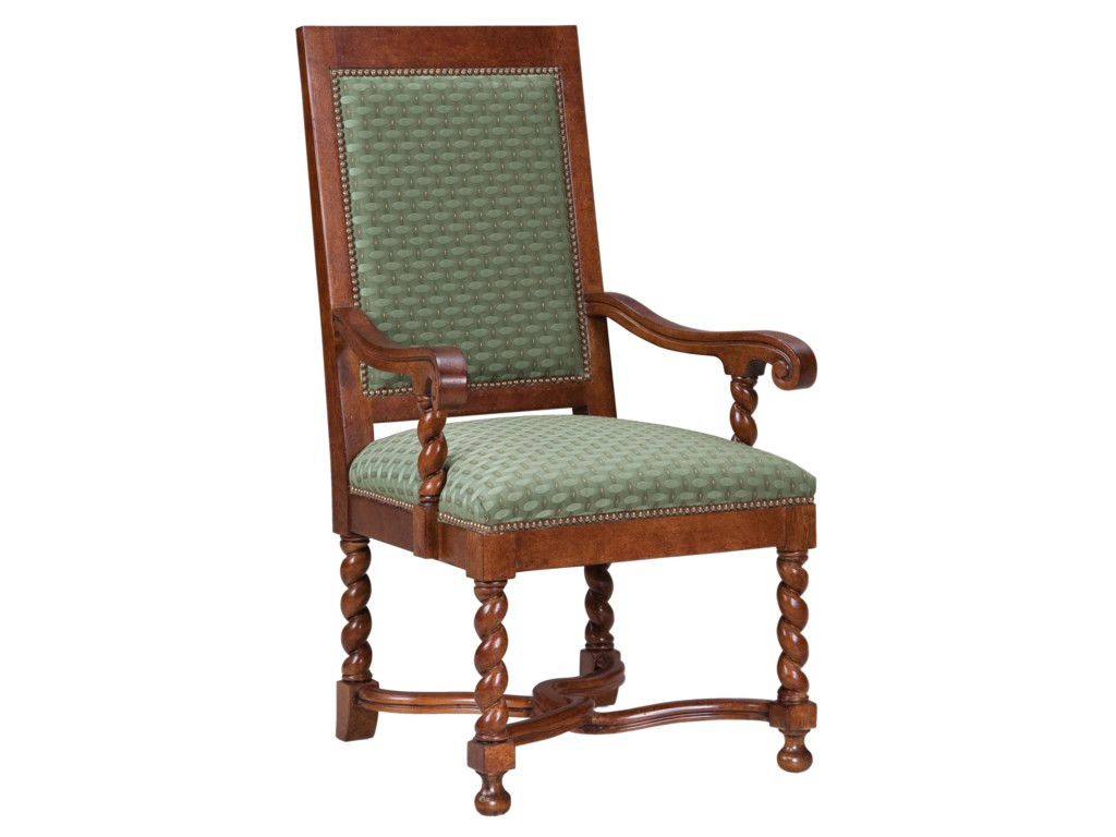 Fairfield ChairsSpiral Legged Arm Chair