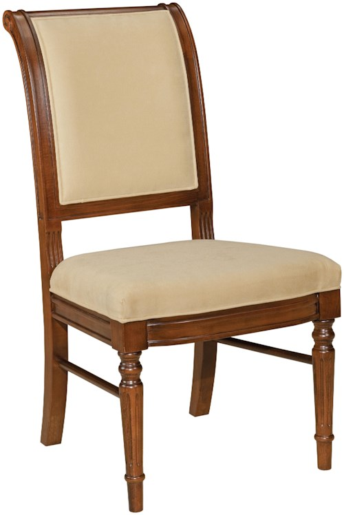 Fairfield Chairs Picture Frame Side Chair with Exposed Wood Legs