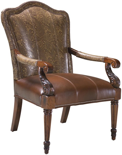 Fairfield Chairs Elegant Exposed Wood Occasional Chair