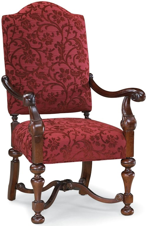 Fairfield Chairs Exposed Wood Chair with Decoratively Turned Base