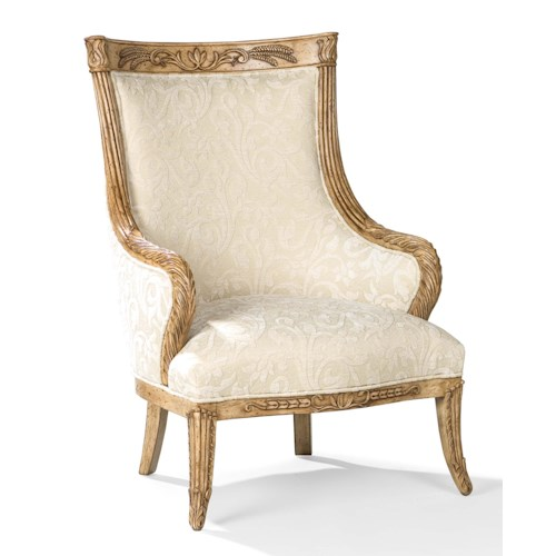 Fairfield Chairs Traditional Exposed Wood Chair with Large Back