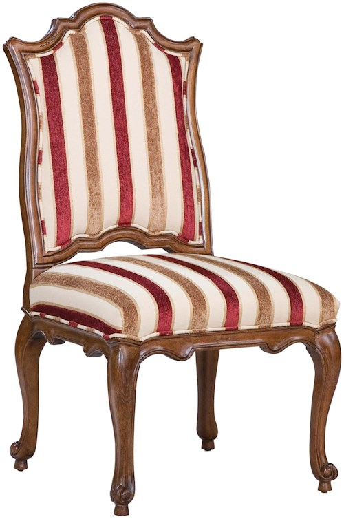 Fairfield Chairs Victorian Accent Side Chair with Curved Seat Back