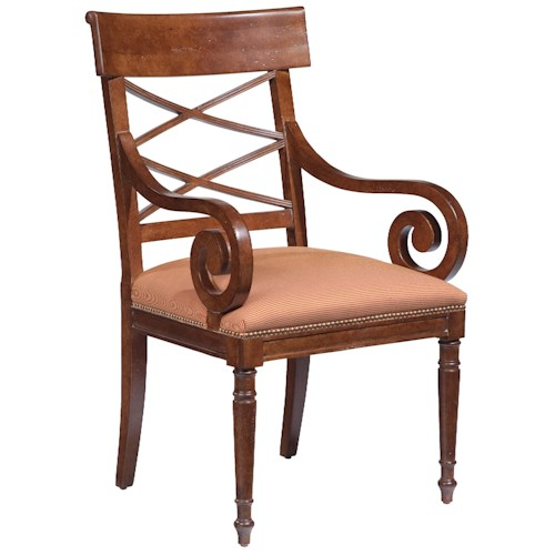Fairfield Chairs Scroll-Arm Occasional Chair
