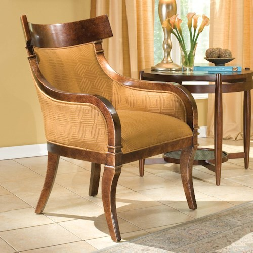 Fairfield Chairs Rustic Upholstered Accent Chair