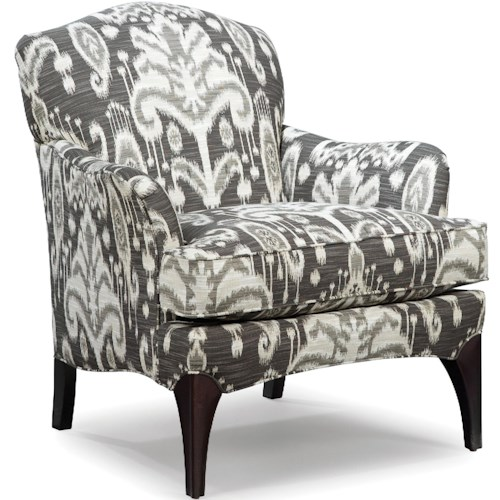 Fairfield Chairs Upholstered Lounge Chair with Tapered Wood Legs