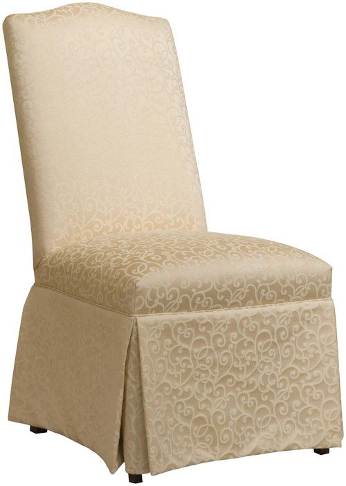 Fairfield Chairs Upholstered Side Chair with Traditional Skirt