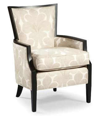 Fairfield Chairs Traditional Lounge Chair W/ Exposed Wood