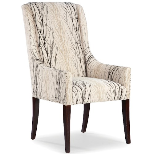 Fairfield Chairs Upholstered Tight Back Occasional Arm Chair