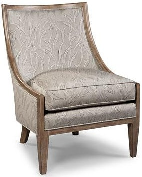 Fairfield Chairs Contemporary Exposed-Wood Lounge Chair