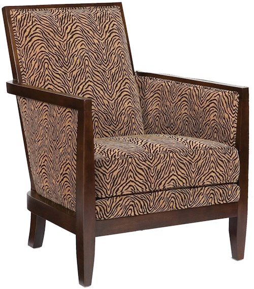 Fairfield Chairs Contemporary Geometric Exposed-Wood Chair