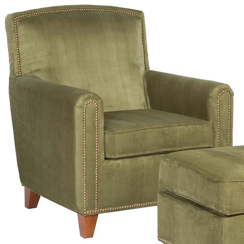Fairfield Chairs Plush Upholstered Chair with Nail Head Trim