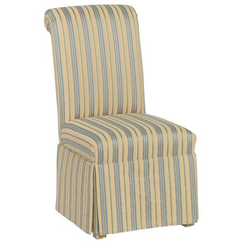 Fairfield Chairs Rolled Back Skirted Accent Chair