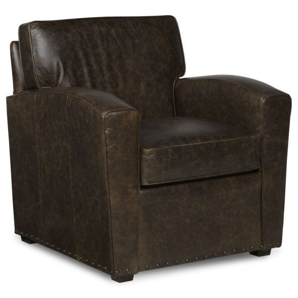 Fairfield Chairs Upholstered Semi Attached Back Lounge Chair