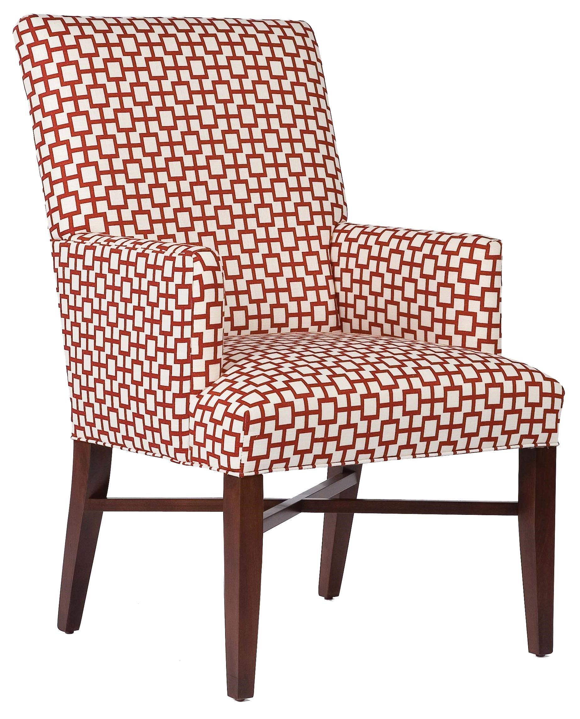 High Quality Fairfield Chairs Contemporary Accent Chair With Decorative Stretcher